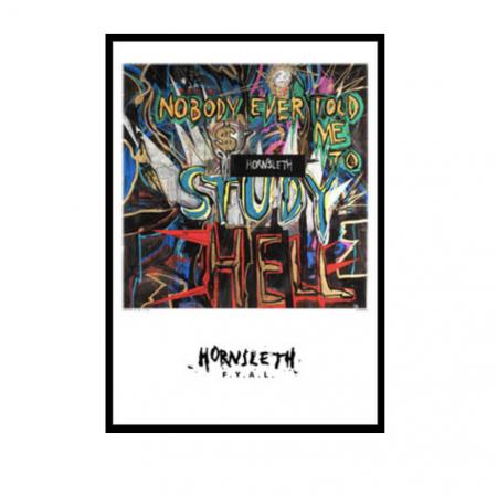 Nobody ever af Hornsleth, Print i glas og ramme, 50x70 cm