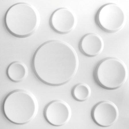 WallArt 3D vægpaneler cirkler 12 stk GA-WA11